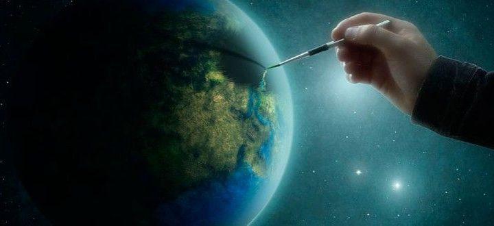 Um homem muito preocupado com os problemas do mundo passava dias em seu escritório, tentando encontrar meios de consertar o planeta.